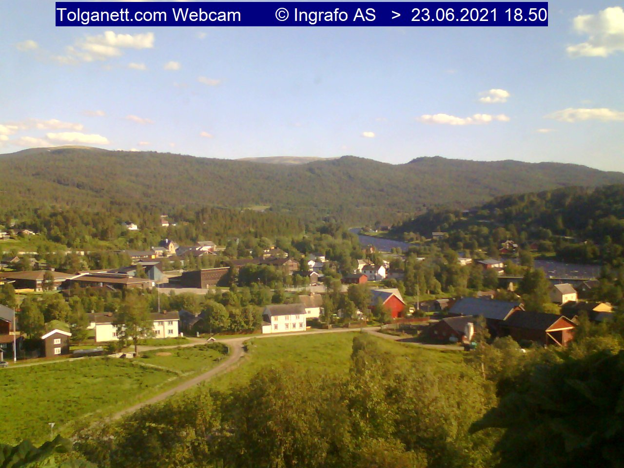 Webcam: Village Center of Tolga, located 35 km soud of Bergstaden Røros - Norvegia